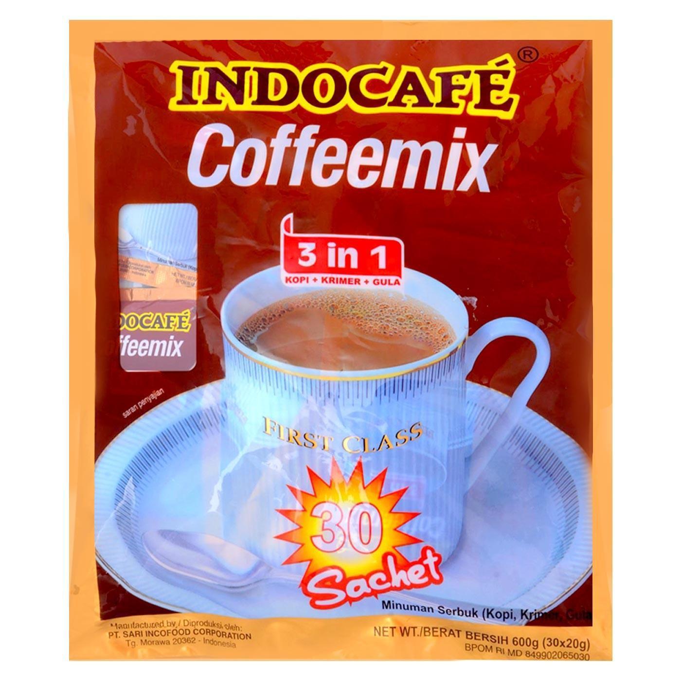 Kopi Biji Bubuk Jantan Warung Tinggi Premium Blended Coffee 1 Kg Indocafe Coffeemix 30x20g