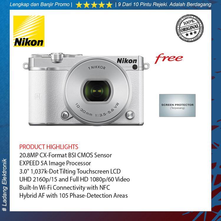 Nikon 1 J5 Kit 10-30mm Kamera Mirrorless White (Garansi Distributor 1 Tahun)