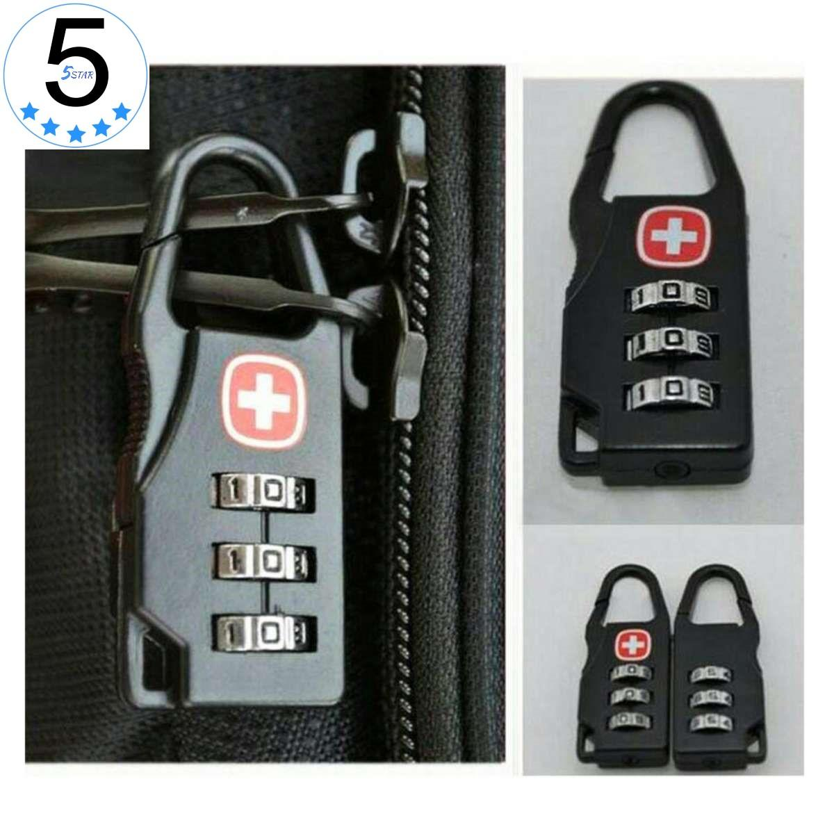 Swiss Gear Gembok Kunci Koper Padlock Travel Bag 5STAR - Swiss Gear Army Keychain Lock -