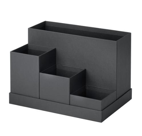 PROMO!! IKEA TJENA Pengatur meja kerja, hitam 18x17 cm MURAH /  BUBBLE 3 LAPIS / ORIGINAL / IKEA ORIGINAL
