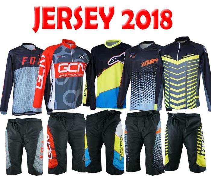 ORIGINAL!!! Jersey sepeda 2018 terbaru setelan  baju sepeda murah - yN0dN4