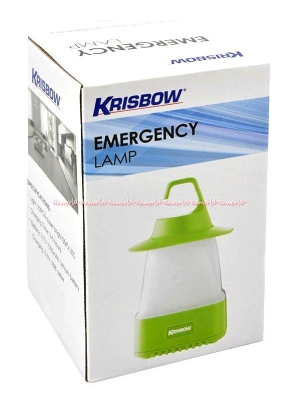Krisbow Lampu Darurat Emergency Lamp Green Gantung