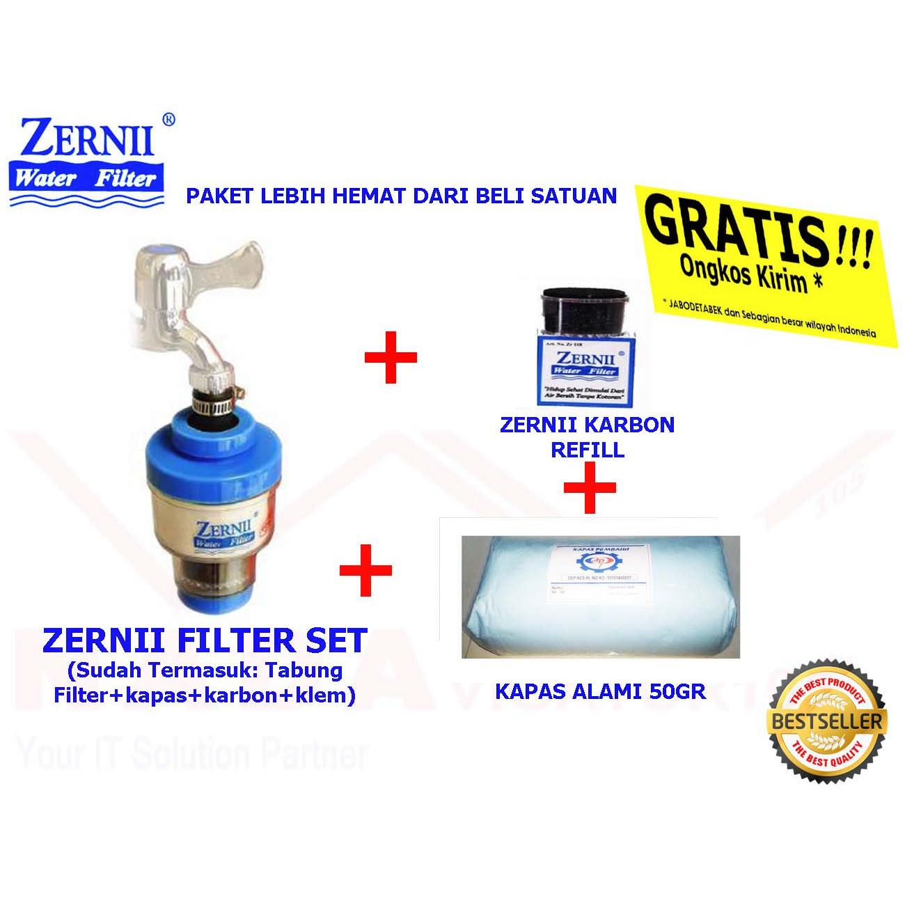 Paket Zernii Filter Air Zernii Filter Kapas 25gr Filter Karbon Aktif Filter Paket Hemat Saringan Zerni Filter Air Carbon 1f1c1k25 By Nadavigator 105.