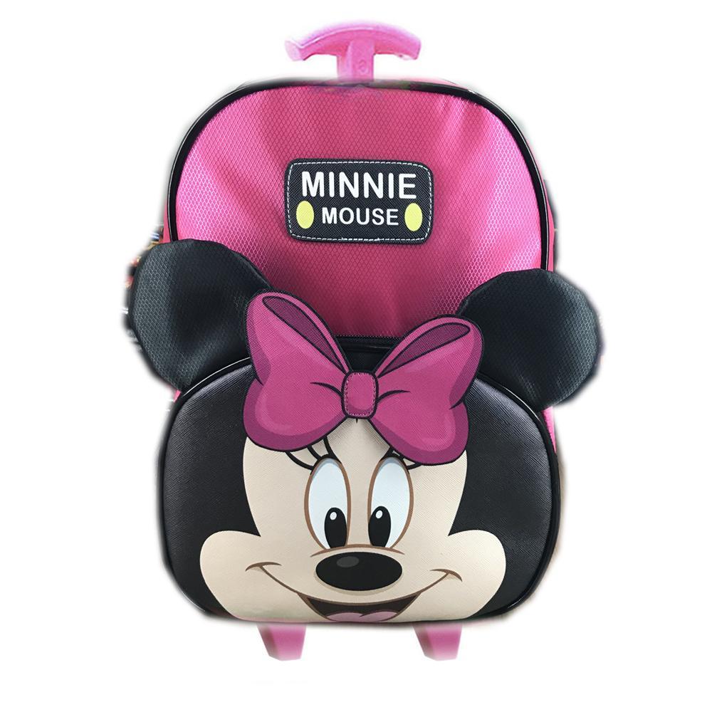BGC Tas Troley Sekolah Anak TK Mickey Minnie Mouse Muka Kuping Timbul ( Pilihan )