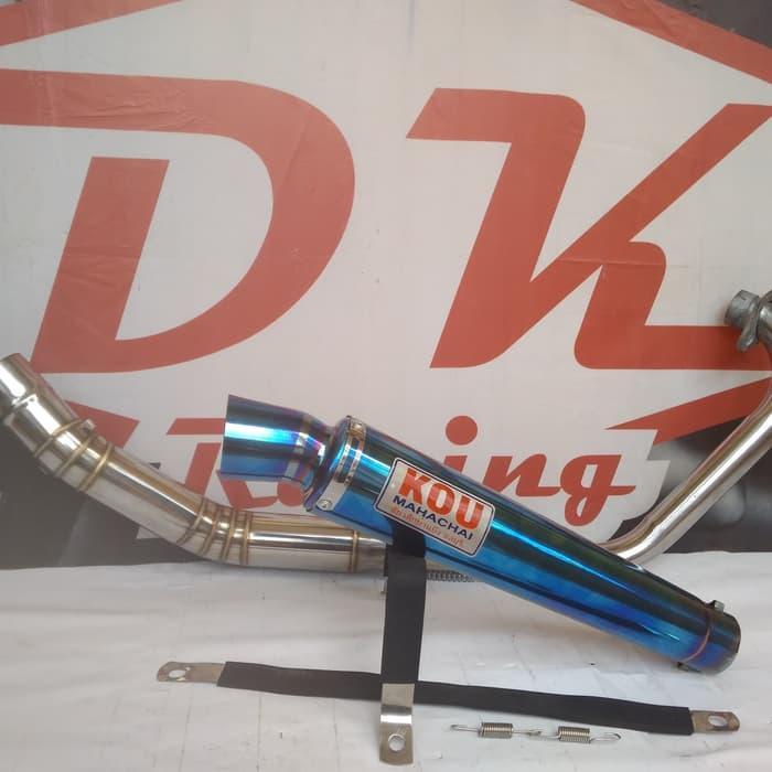 Knalpot Racing Suzuki Satria Fu 150 Predator Kou Bloumont By Dk Racing Bekasi.