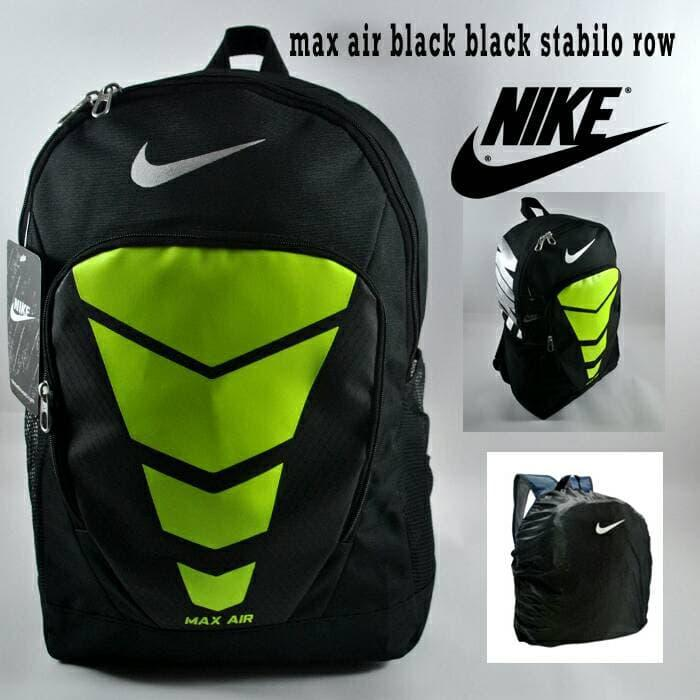HOT PROMO!!! tas ransel nike airmax black list greenlight row free raincover - MHUzSO