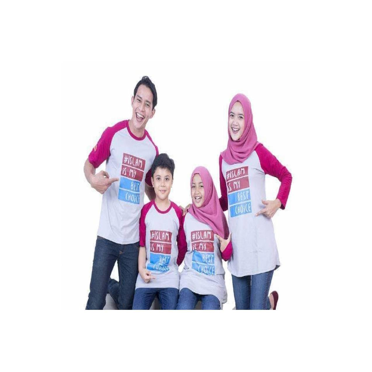TERBARU MURAH Baju Muslim Couple Keluarga Kaos Muslim Best Seller