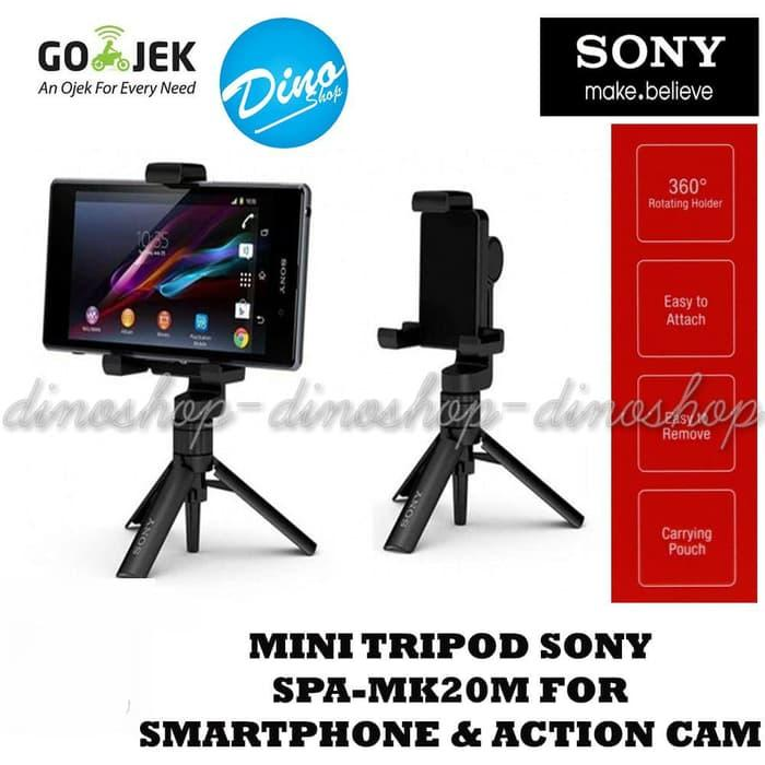 Baru! Mini Tripod Sony Spa-Mk20M 360 Rotating For Smartphone & Action Cam - ready stock