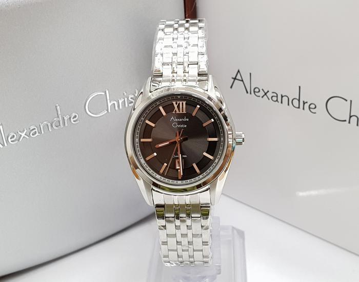 Jam Tangan Wanita Alexandre Christie AC 8501 Silver Grey Original 6326cb8ffe