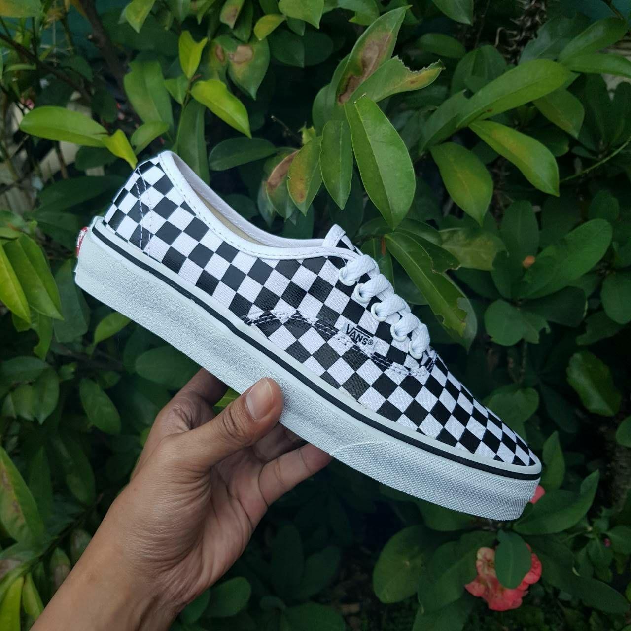 Promo Sepatu Vans Authentic Checkerboard Black White ICC