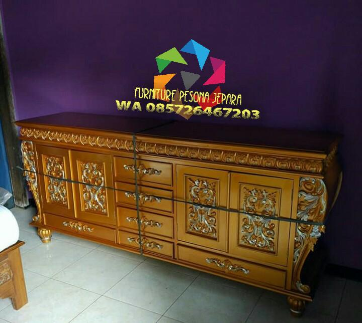 Buffet TV ukir Gold, Meja TV gold. PESONA JEPARA 44