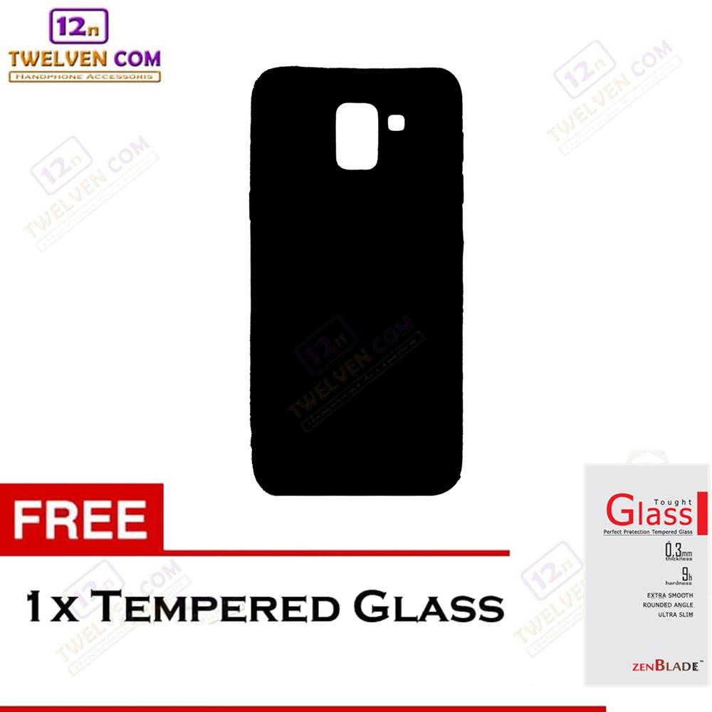 Twelven Case Slim Matte For Samsung J6 2018 - Free Tempered Glass