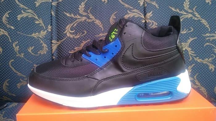HARGA SPESIAL!!! Sepatu basket nike air max high black blue white - ZFmEqt