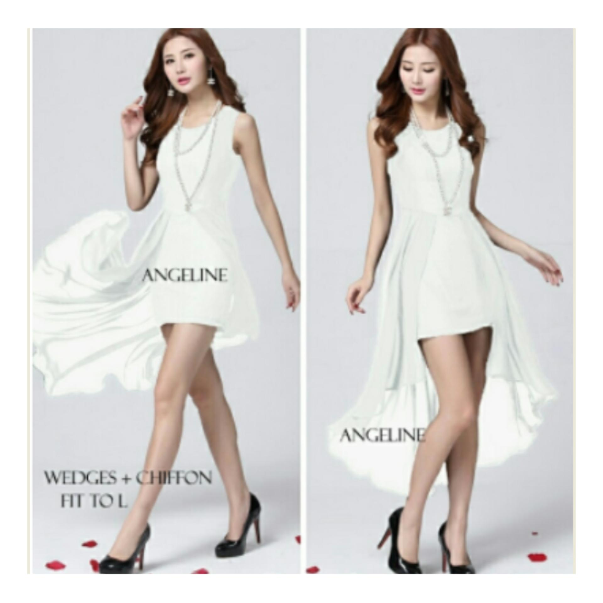 model baju mini dress terkini dan murah ANGELINE PUTIH