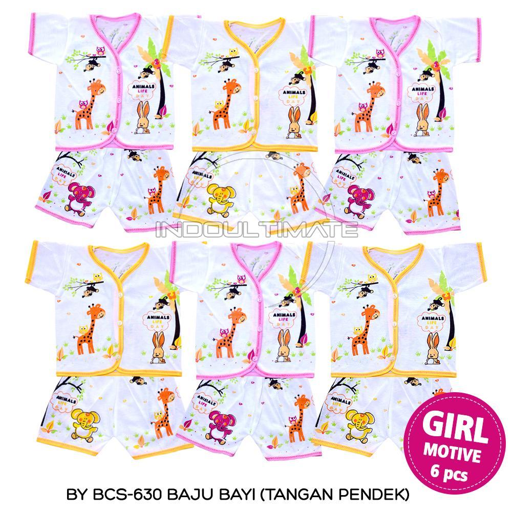 Setelan Baju Bayi 6 Pcs / Baju Bayi / Celana Bayi / Setelan Baju Anak / Perlengkapan Bayi / Baju Setelan Tangan Pendek Celana Pendek Isi 6 Pcs - By Bcs-630 By Indo Ultimate.