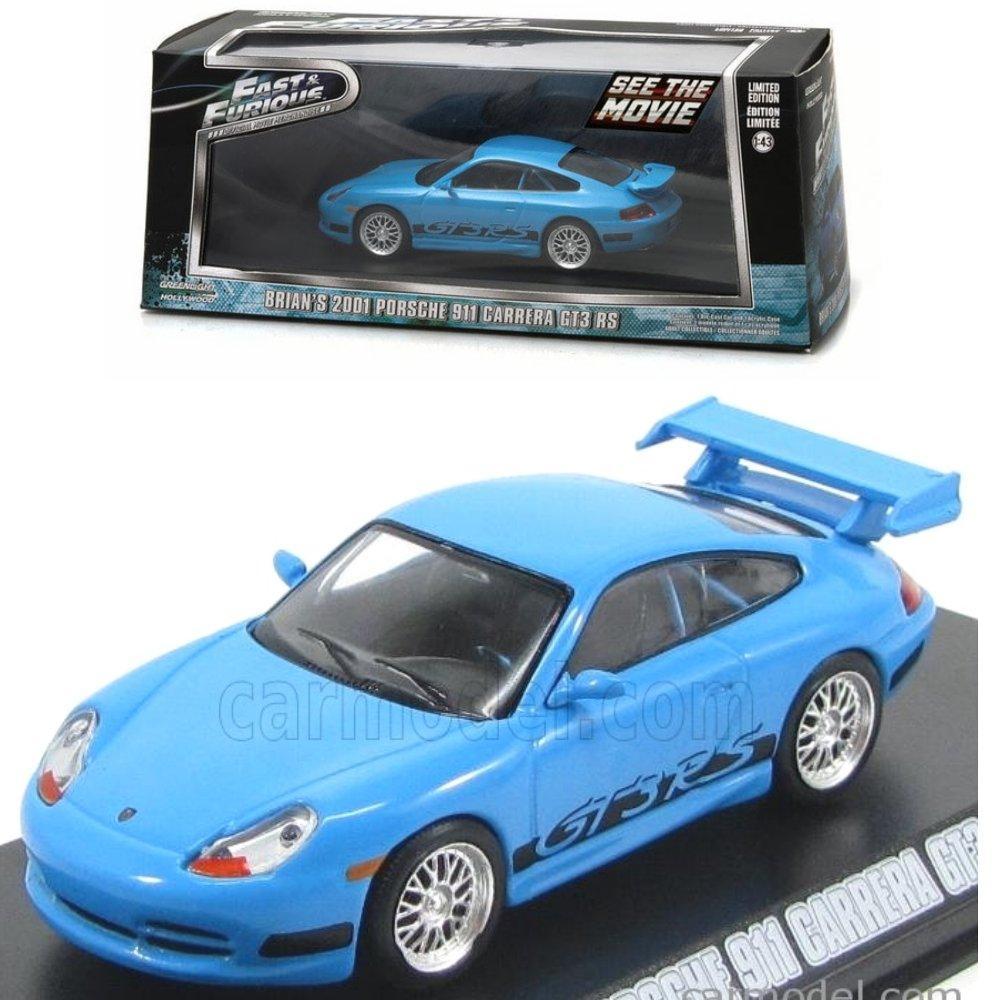 Greenlight Fast Furious Brian 2001 Porsche 911 Carrera GT3 RS # Vovo Toys vovotoys