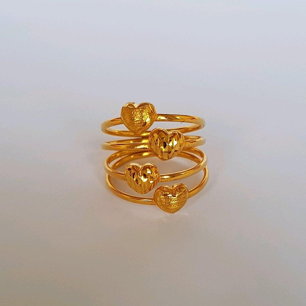 Size 13 Pilihan Terbaik Cincin Emas Asli Kadar 700 Bucket Love Perhiasan Wanita Gold