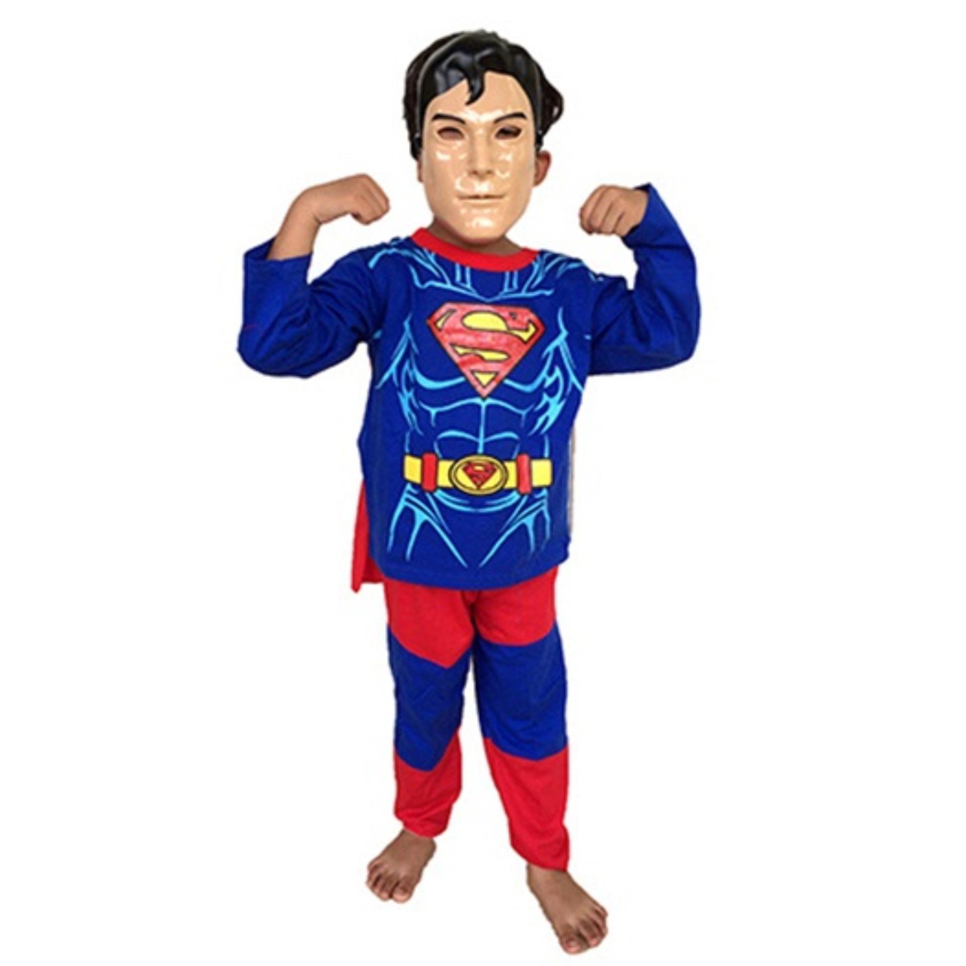 Baju Anak Kostum Topeng Superhero Superman Super Man