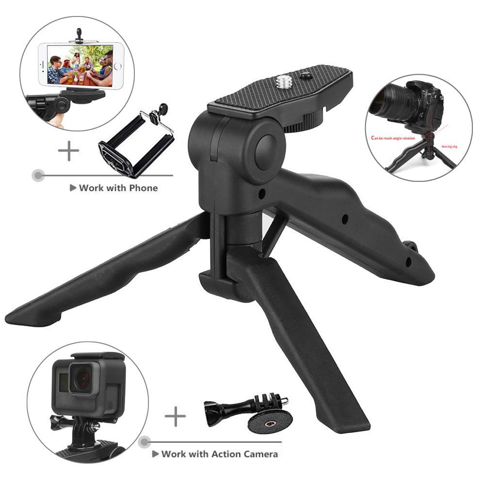 Portabel Kamera Meja Tripod Untuk GoPro Hero 6 5 4 3 SJCAM SJ4000 Xiaomi Yi 4 K Sony DSLR SLR Cahaya Telepon Tripod Berdiri