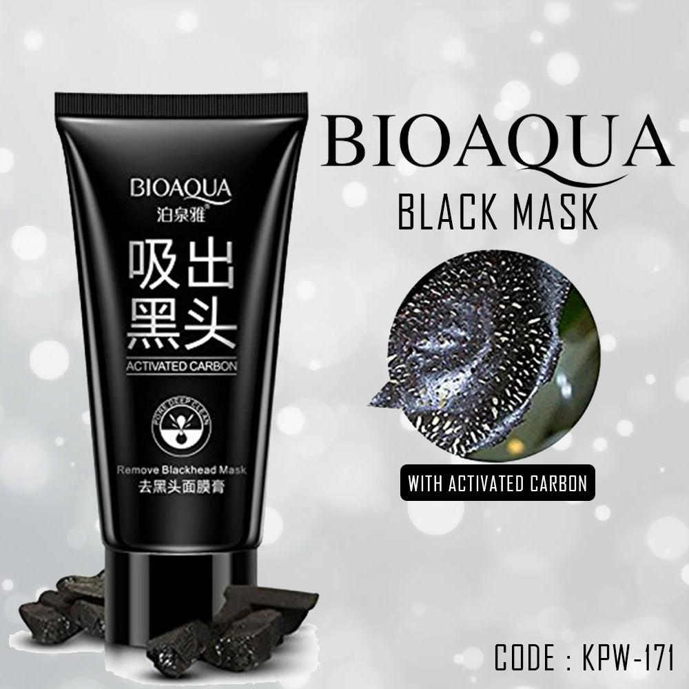 Bioaqua Black Mask Masker Carbon Coral Remove Blackhead - KPW-171