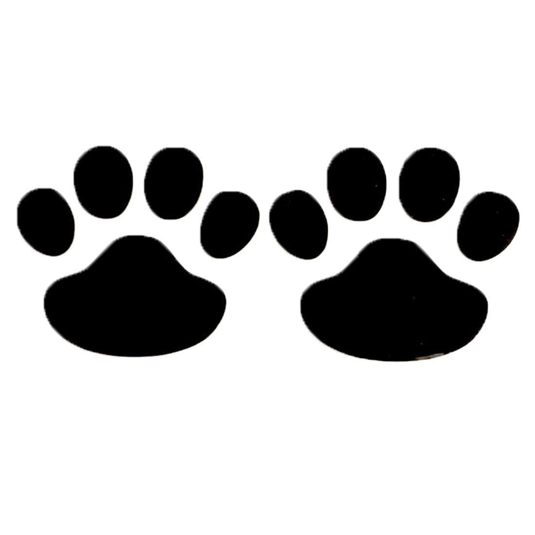 Dewtreetali 2017 Baru Perak Emas 1 Pair Desain Keren Stiker Mobil Motif Cakar 3D Hewan Anjing