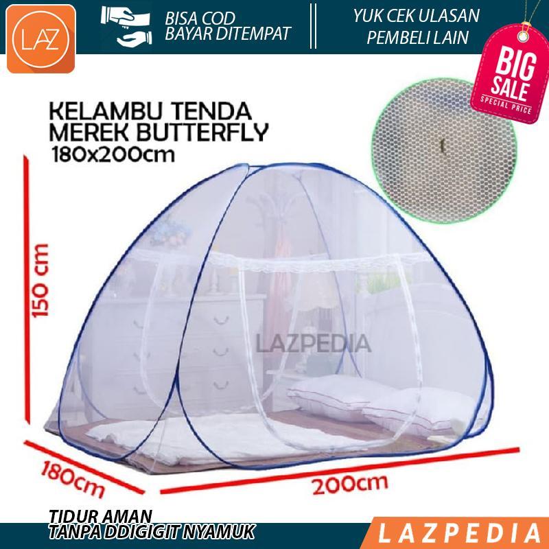 Butterfly Kelambu Tenda 180x200 cm Kelambu Tidur Kelambu Kasur Lipat Kelambu Anti Nyamuk Kasa Nyamuk Kelambu Portable - Lazpedia L1N2