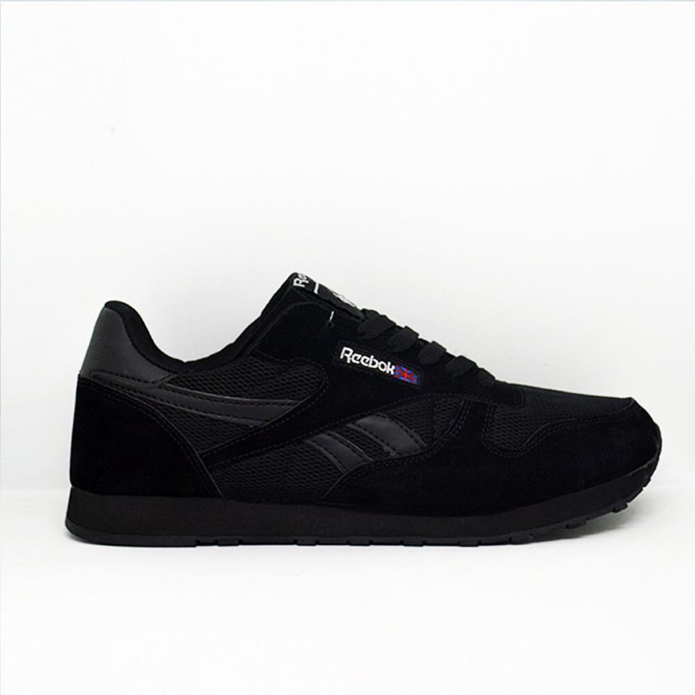 Sepatu Sneakers Pria Reebok1 Classic, Sepatu reebok1 Olahraga Pria Warna Ful Hitam