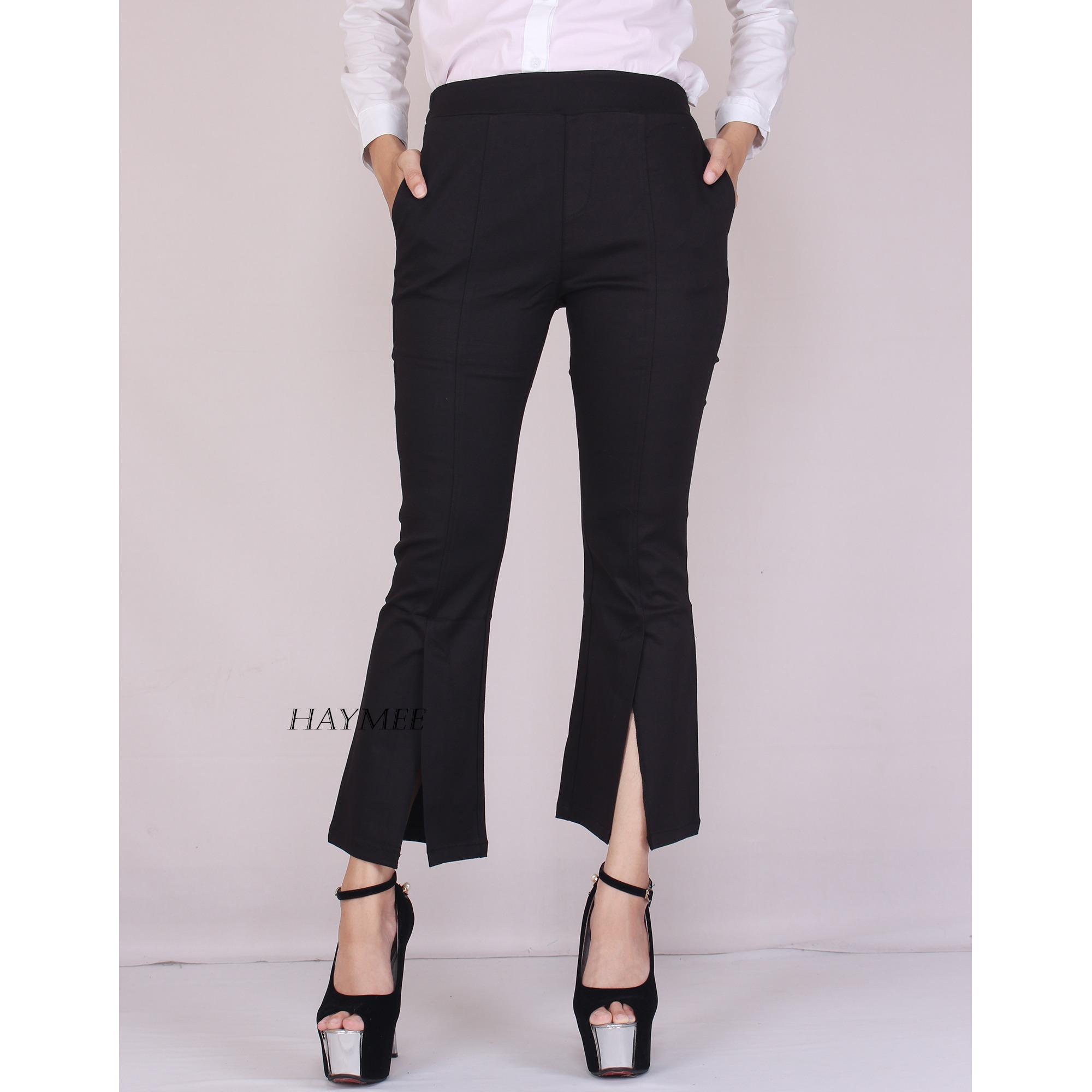 HaymeeStore Celana Cutbray Office Pants Katun Twill HQ lmport Bawahan Cutbray Wanita Celana Premium Cutbrai