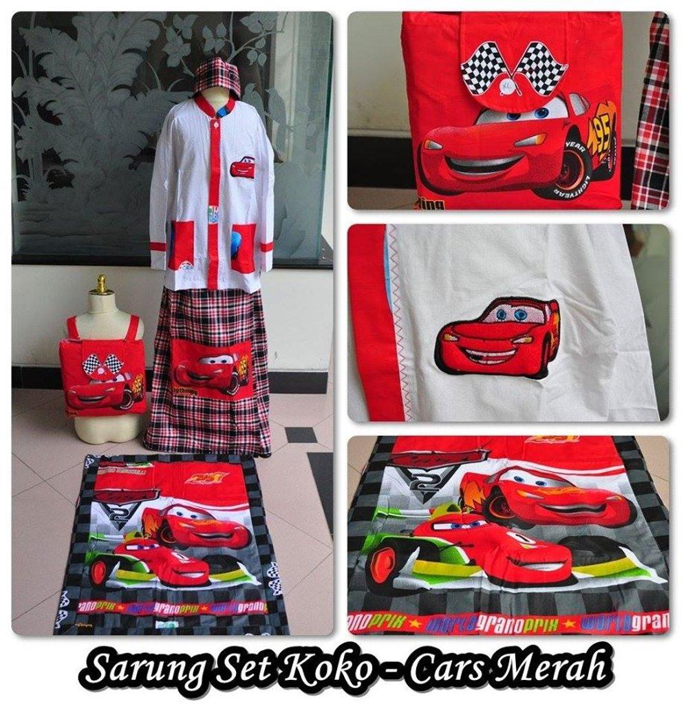 Baju Koko Dan Sarung Anak Cars (XL) di lapak Grosir Mukena Dessy mukenadessy