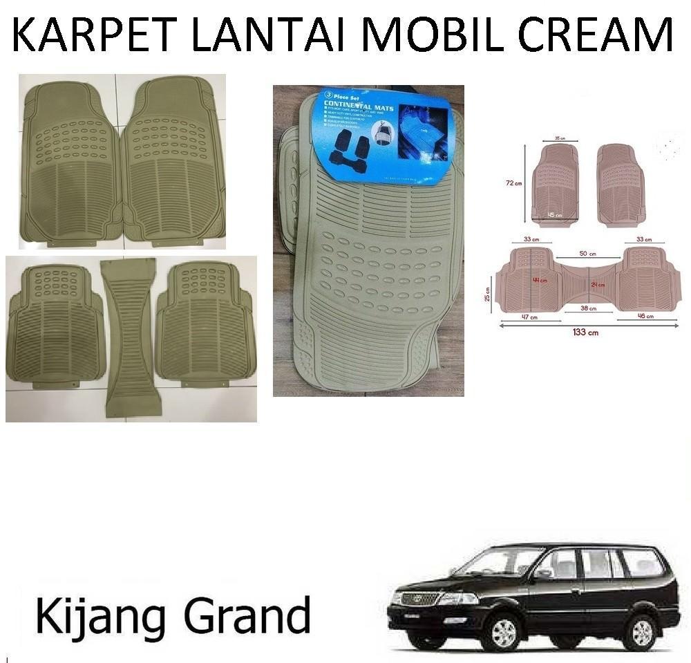 Karpet Mobil Kijang Grand  / Car Carpet / Floor Mats Universal Warna Cream