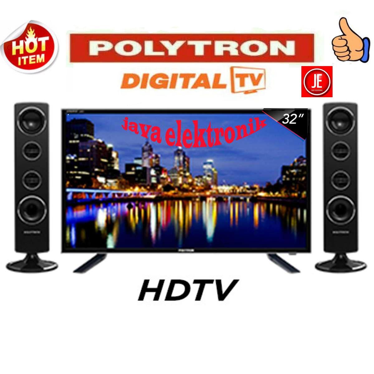 POLYTRON LED TV 32 Inch HD - PLD32TS1503 digital tv+Speaker Tower garansi resmi
