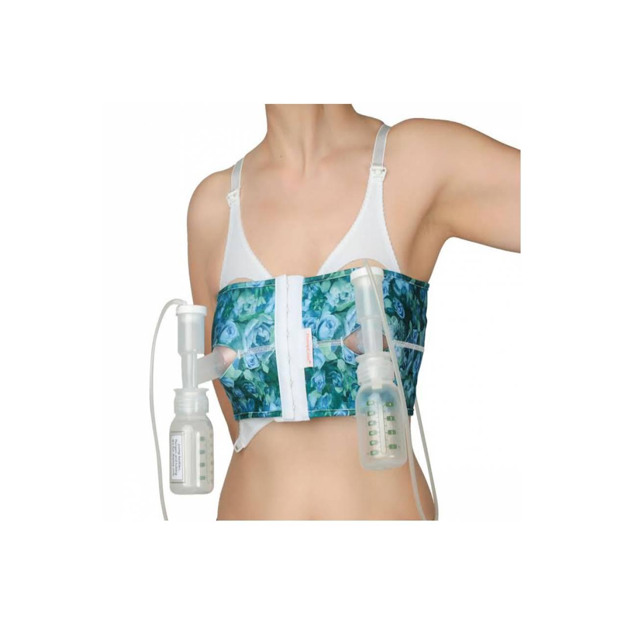 Pumpease Handsfree pumping bra Royal Bloom