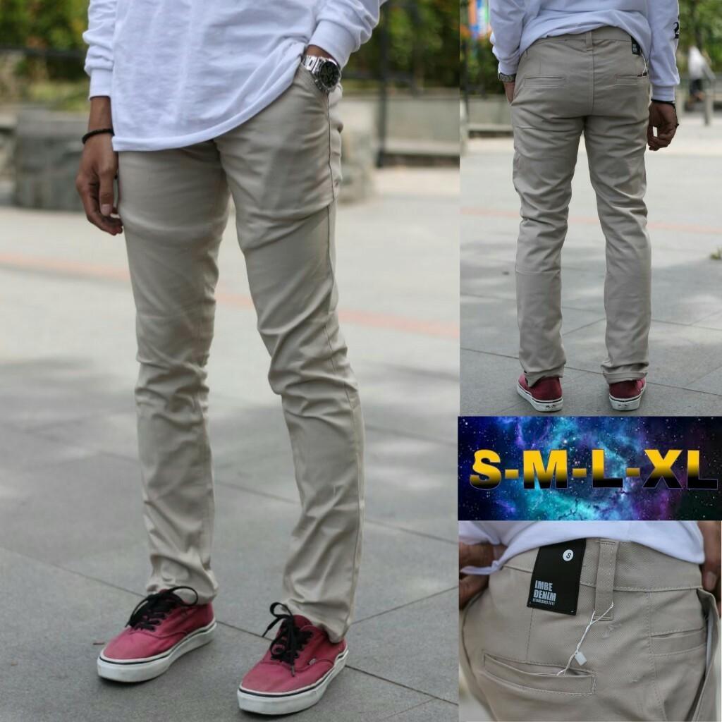 Katalog Celana Joggerstriped Cream Premium Termurah Panjang Chino Krem Polos Pria Cino Slimfit