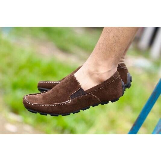 sepatu slop pria kickers sepatu cowok slip on & loafers sepatu kerja casual santai formal