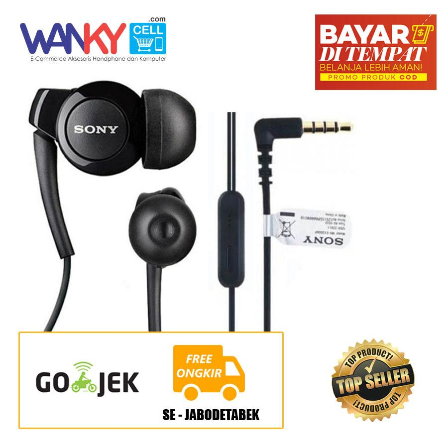 Wanky Headset Sony EX300AP Stereo Earphone For Smartphone Xiaomi/Oppo/Samsung/Vivo/iPhone - Hitam
