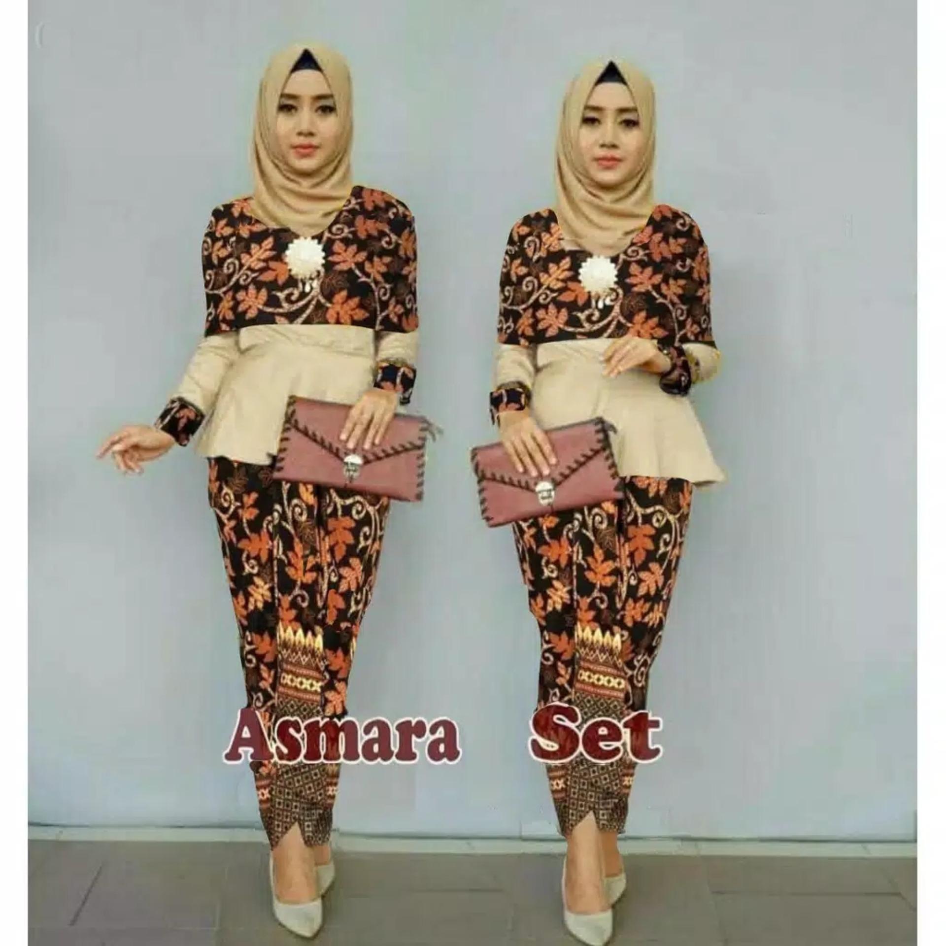 Jakarta Mall - Setelan Baju Tradisional / Baju Batik /  Atasan dan Bawahan / Kebaya Modern / Baju Murah / Batik Wanita / Baju Wanita / Batik / Kutu Baru / Murah; Motif dan Warna Real Photo #Ukuran S, M, L dan XL