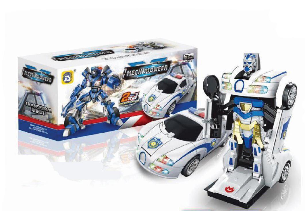Rkj Mainan Anak Mobil Robot Baterai Transformer Optimus , Bumblebee & Mech Pioneer Dengan Lampu & Musik By Rkj Toys.