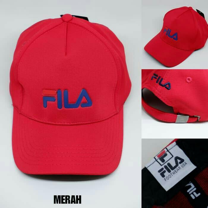 Topi Branded Baseball FILA Premium Cap Sporty Unisex Man Woman Topi Pria Wanita Import Premium Quality