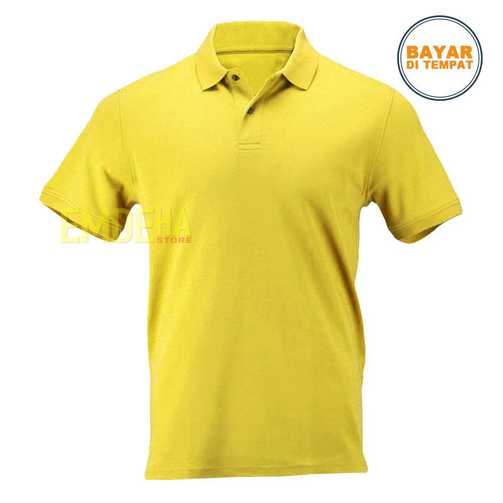 Emdeha Store - Poloshirt Pendek Polos Kaos Kerah Simple Dan Elegant 1402f8a3da