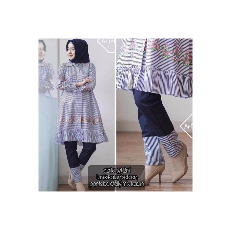 New Jual Baju Dress Wanita Baju Murah Muslim Blus Tunik Hijab Kode HS