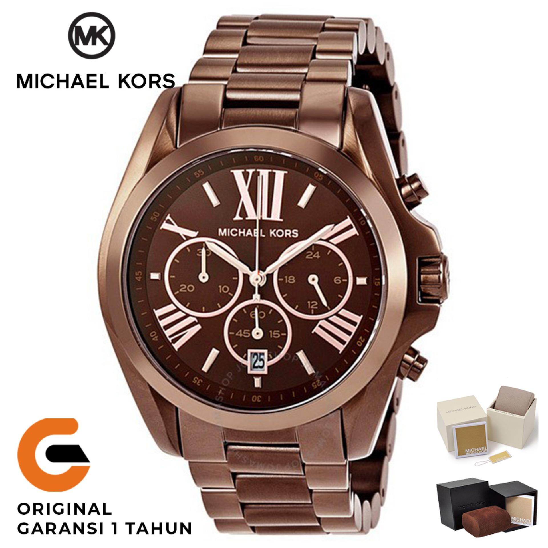 a712ccf184cf Michael Kors Watch Original Jam Tangan Wanita Michael Kors Bradshaw MK5628  Tali Rantai Stainless Strap Dial