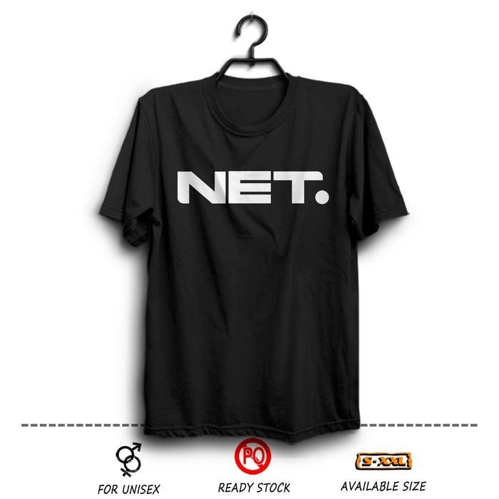 Kaos Distro Net TV Indonesia Hitam Wfcloth