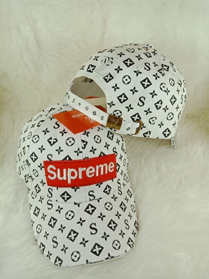 Topi Lv Supreme Semi Premium Import Bahan Kanvas