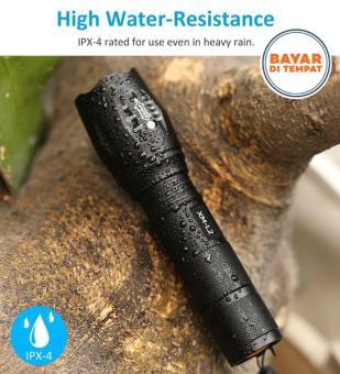 Beli sekarang Senter LED Cree Laser Terang E17 XM-L T6 2000 Lumens 18650 / 3 x AAA High Water-Resistance terbaik murah - Hanya Rp54.022
