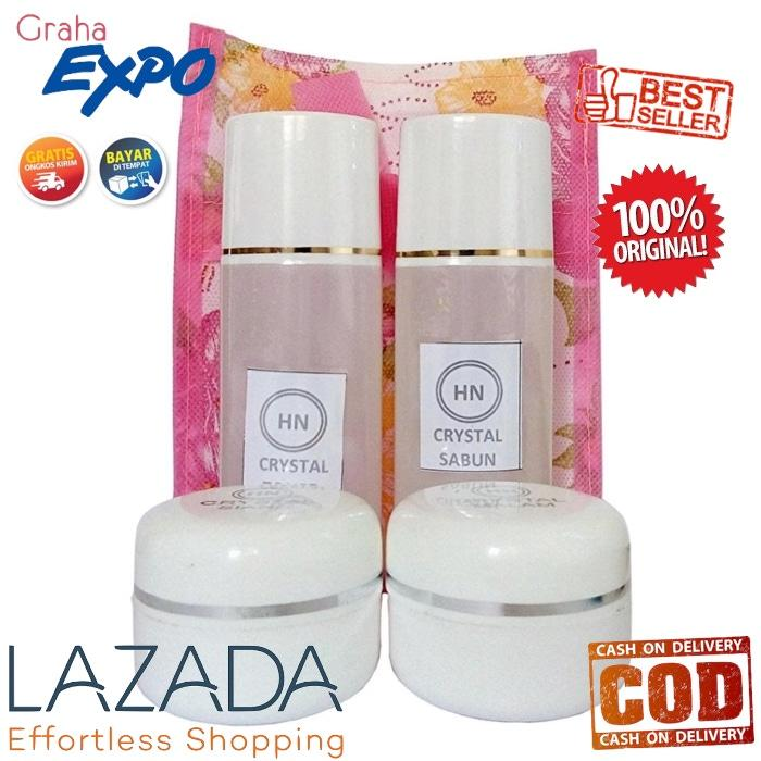 Paket Cream Day And Night Hn Crystal 30Gr Krim Siang Malam Sabun + Toner Original