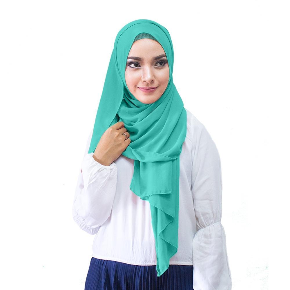 Hijabku Murah Pasmina Ceruti - [Warna Toska]