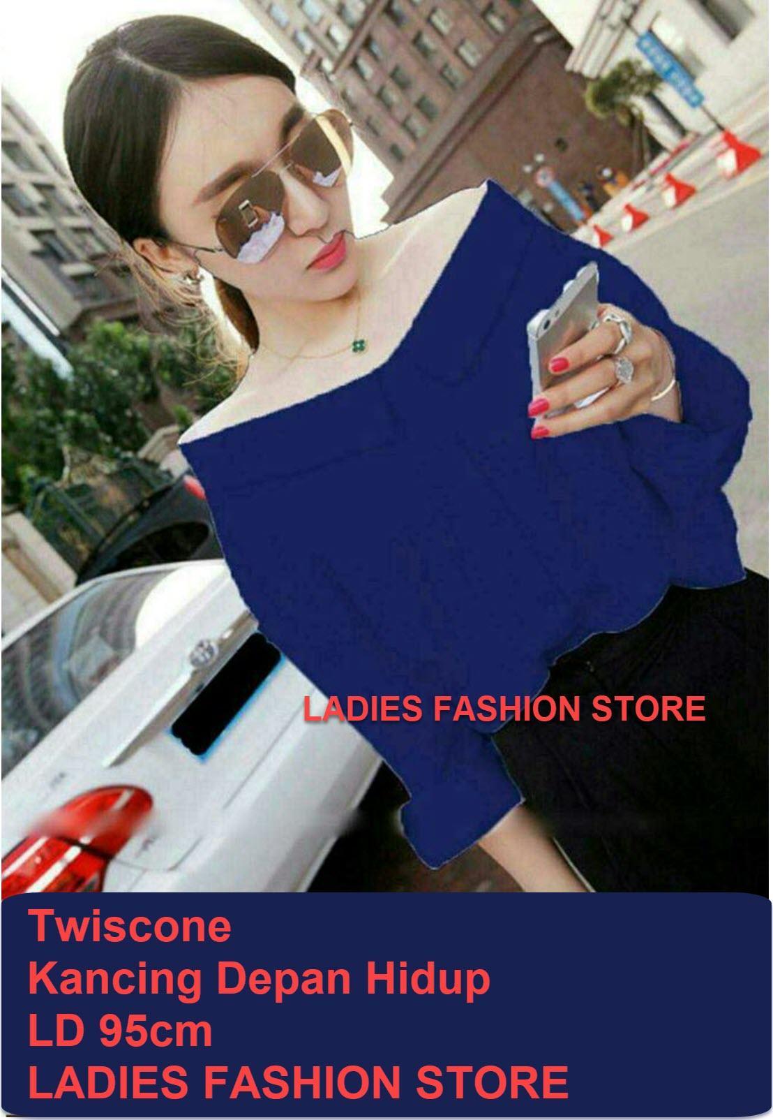 Blouse Wanita Polos Murah / Blouse Wanita Korea Style Polos / Off The Shoulders / Pakaian Casual Formal / Kemeja Wanita Bahan Adem / Top Cewek / Baju Wanita ...