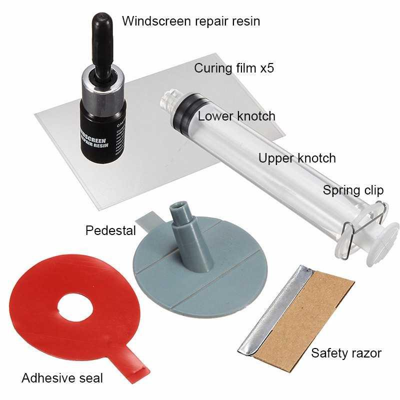 Alat Reparasi Kaca Mobil Retak Windshield Car Kit Praktis Mudah Auto Kit Glass For Chip And Crack Fix Your Windscreen Do It Yourself Repair Car Mirror Tool Kaca Mulus Perbaiki Kaca Mobil Yang Retak Tergores Goresan Hilang Profesional S9796 By Jumpa Jack.