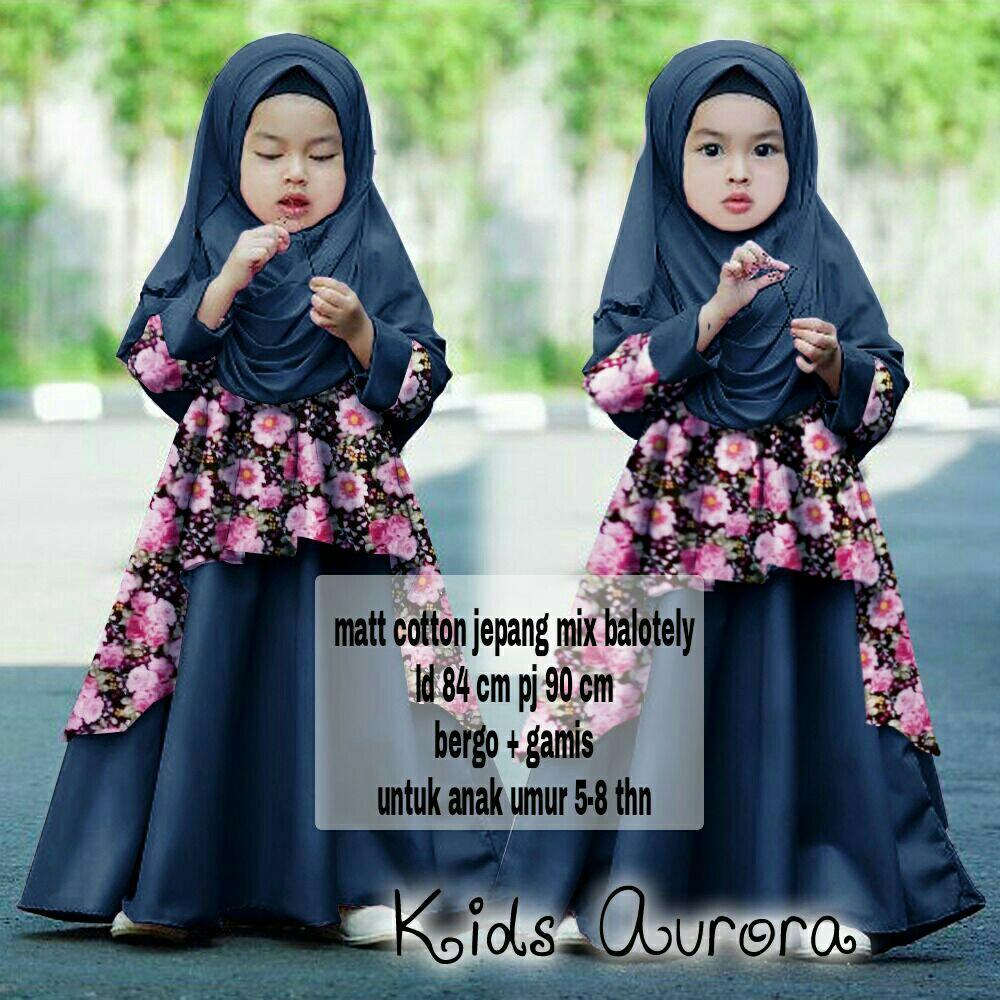 Popdesign Dress Auroya   Gamis Muslim Anak   Baju Muslim Anak Perempuan   Maxi  Dress Hijab 2d24cc6e1b