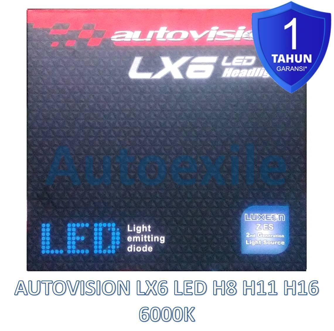 Autovision LX6 LED H8 H11 H16 25W 6000K Putih LX-6 Luxeon Z ES Generasi2 Lampu Foglamp Mobil Garansi